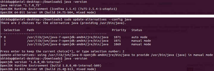 java JRE version control